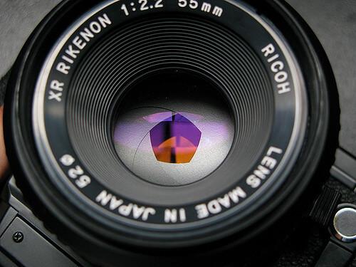 Apertura de objetivo cámara fotográfica