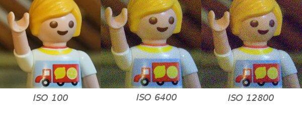 Sensibilidad del sensor ISO y ruido