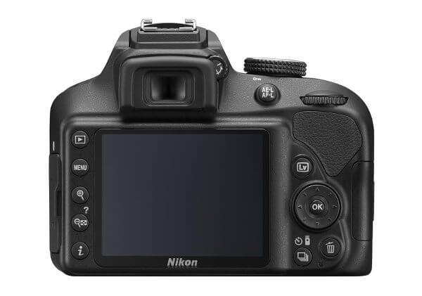 Cámara réflex Nikon D3400 - Pantalla trasera