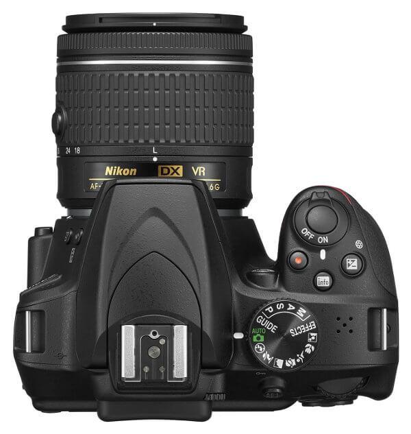 Cámara réflex Nikon D3400 - Vista superior