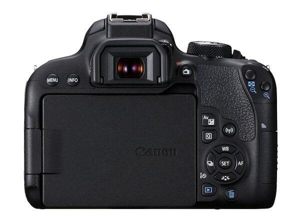 Canon EOS 800D / Rebel T7i. Vista posterior