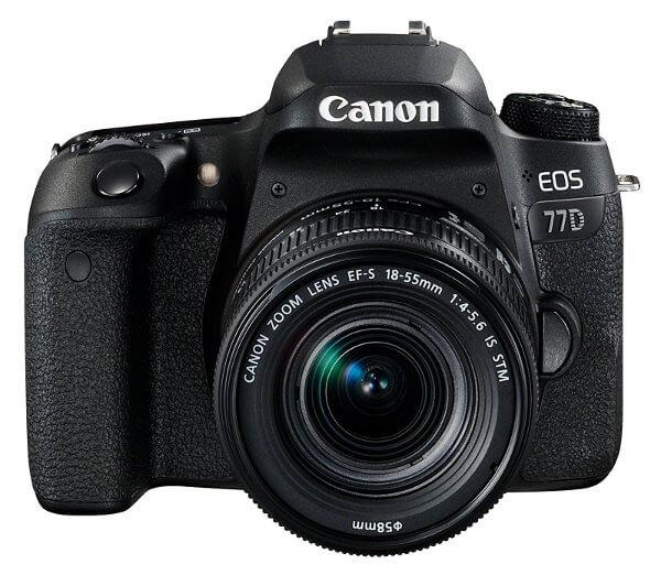 Canon EOS 77D. Vista frontal