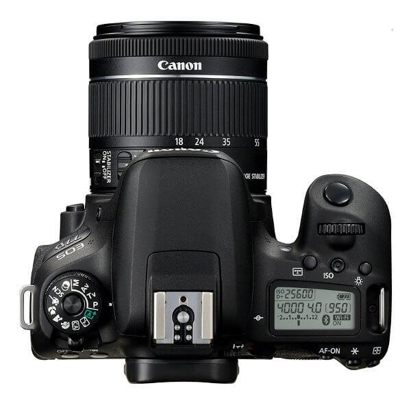 Canon EOS 77D. Vista superior