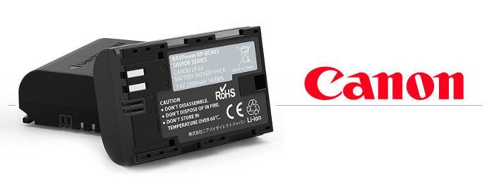 Baterías para cámaras réflex Canon