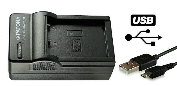 Cargador USB para baterías de cámaras