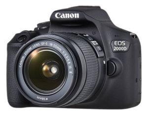 Cámara réflex Canon EOS 2000D / Rebel T7