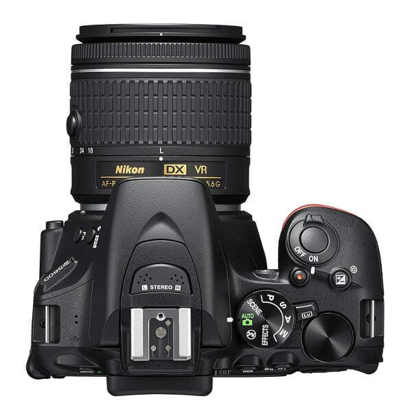 Cámara réflex Nikon D5600 - Vista desde arriba