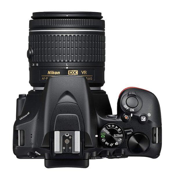 Cámara réflex Nikon D3500 - Vista superior