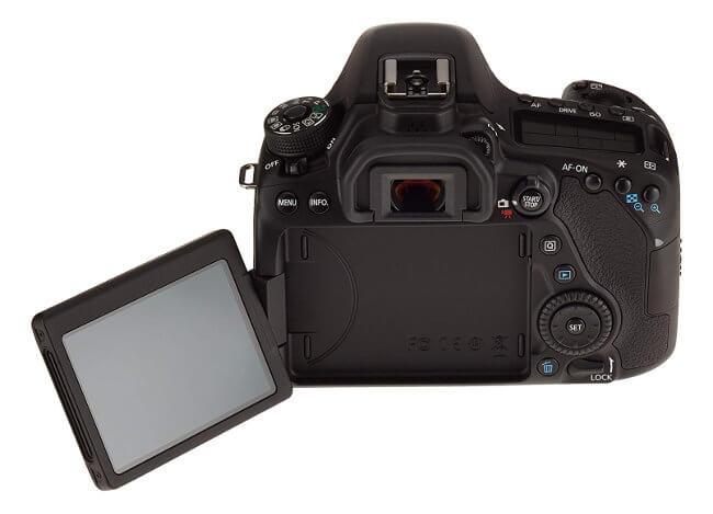 Canon 80D - Pantalla articulada y botonera trasera