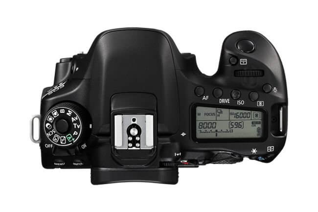 Canon 80D - Display superior