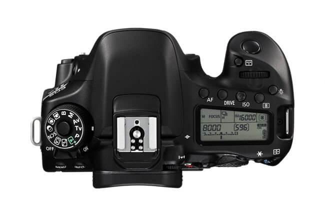Canon 80D - Display superior