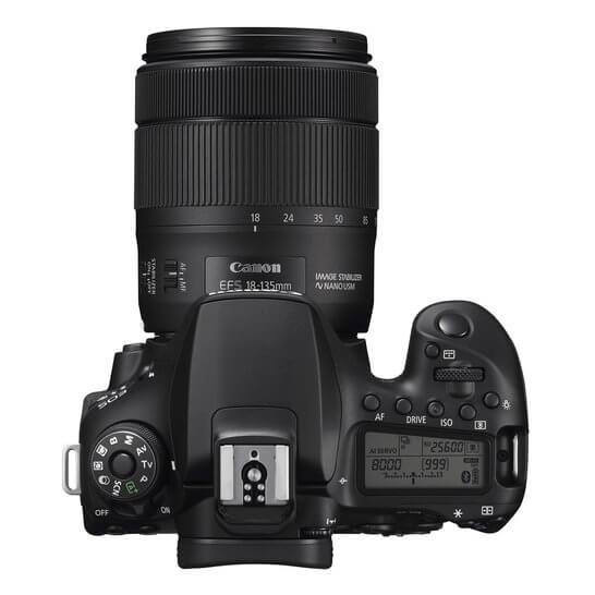 Canon EOS 800D - Vista superior