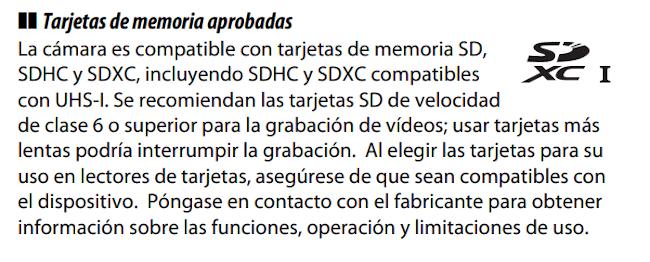 Nikon D5600 Manual - Tarjetas SD