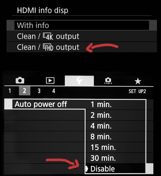 Configuración cámaras Canon streaming / HDMI