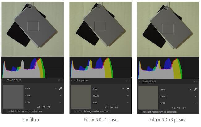 Filtro ND - Dominante de color