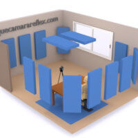 Tratamiento acústico de una habitación - Distribución paneles