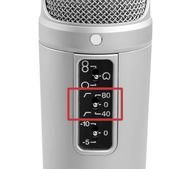 Micrófono - High Pass Filter / Low cut / Filtro paso alto